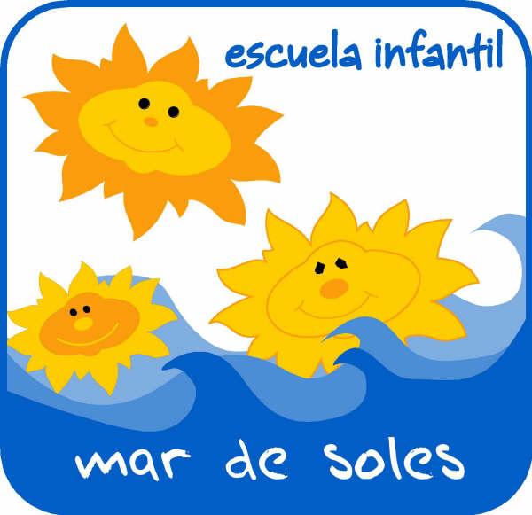 Logotipo de escuela infantil mar de soles